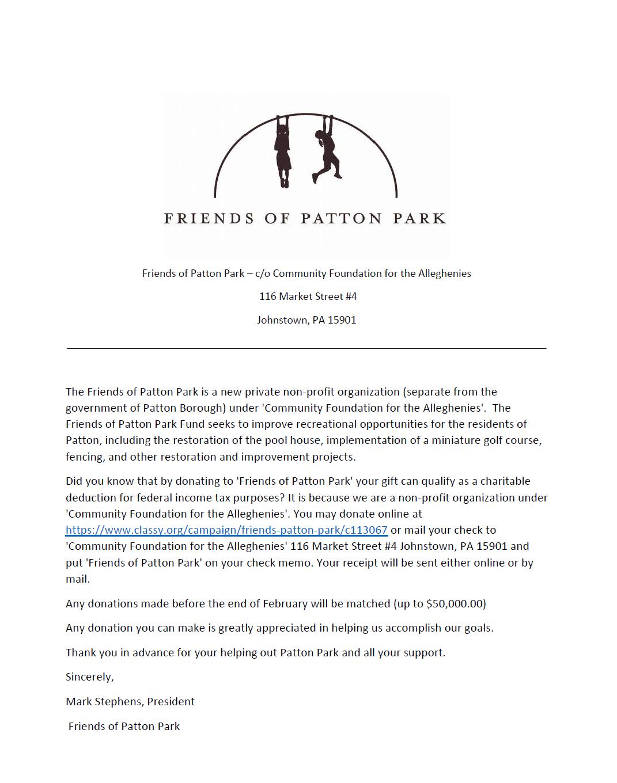 Friends of Patton Park