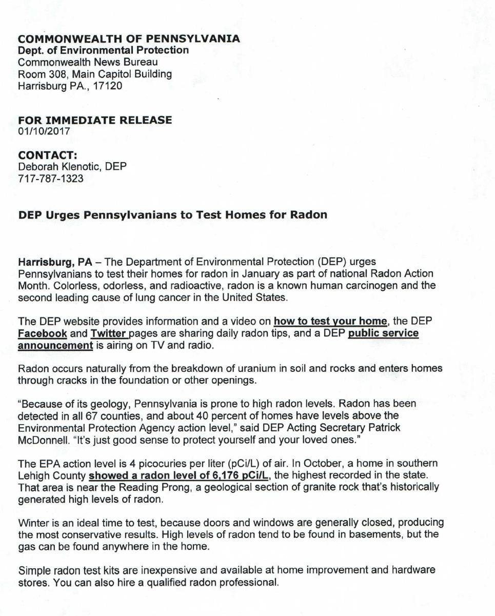 Radon Gas Page 1