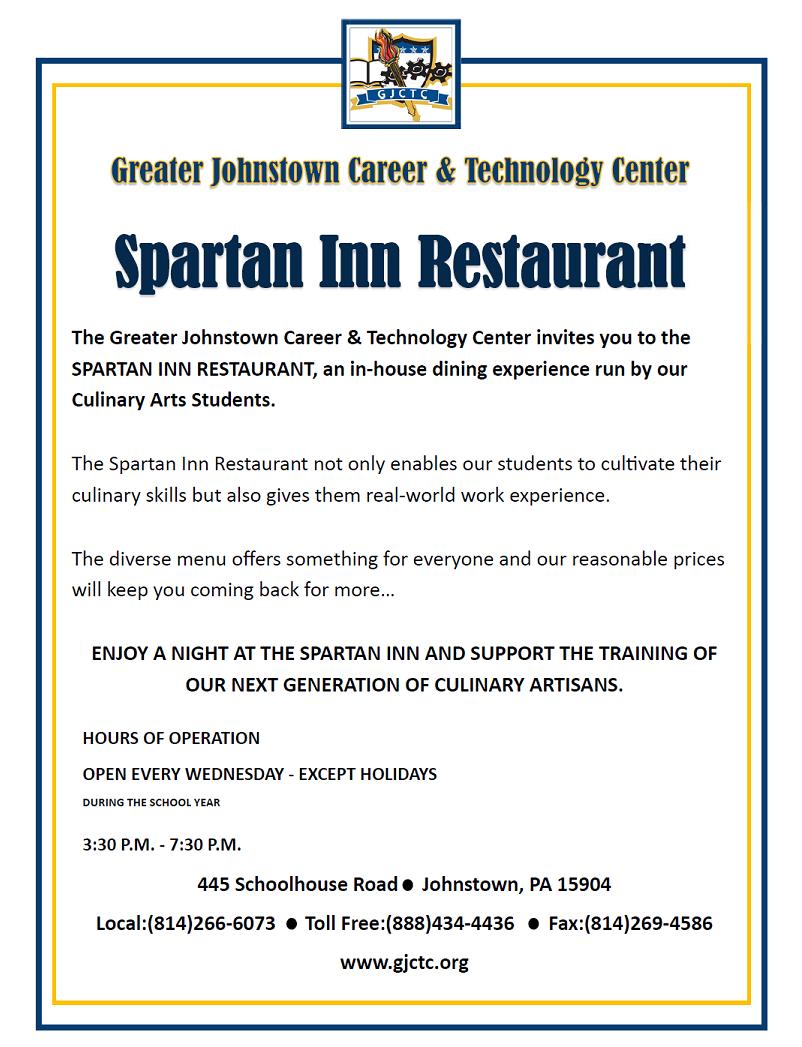 Spartan Inn flyer