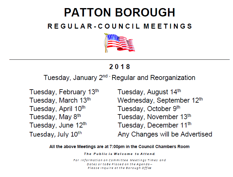 2018 Council Meetings