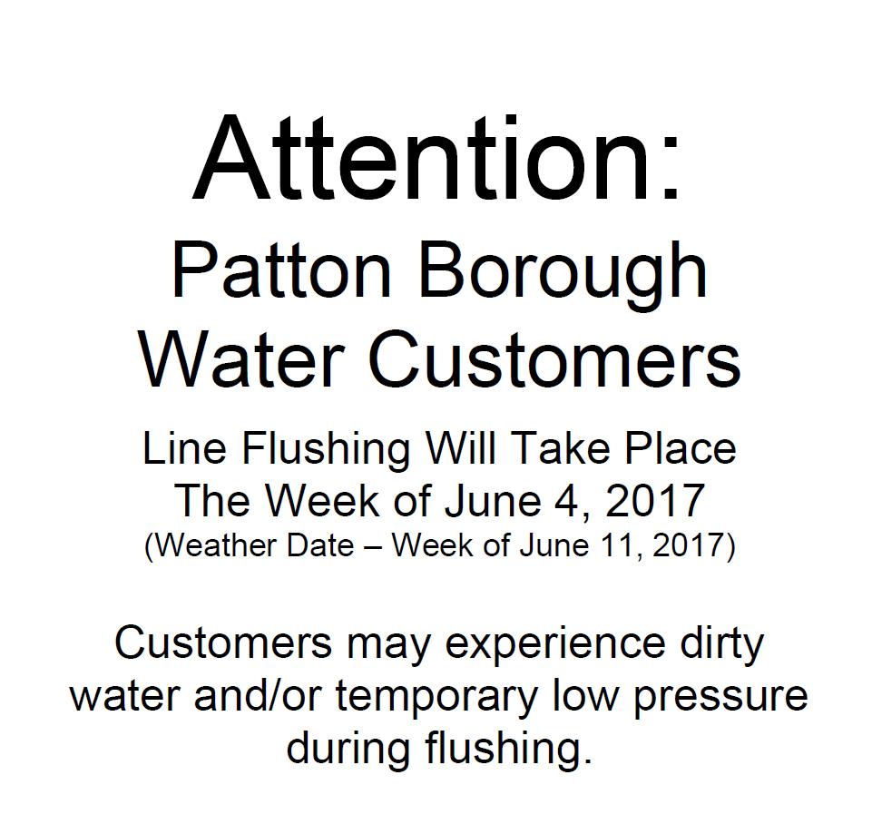 2017 Spring Water Line Flushing