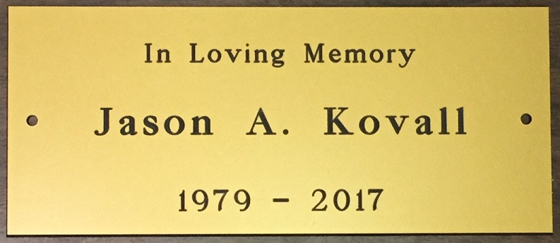 2017 In Loving Memory of Jason A. Kovall 1979-2017