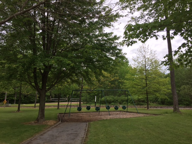 2017 Park Pictures - Swings by Volleyball Courts